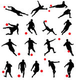 Football silhouettes Stock Image