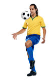 Football skills Royalty Free Stock Photo