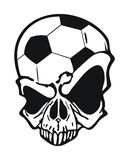 Football skull Royalty Free Stock Photography