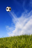 Football in the sky Stock Photos