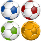 Football Soccer. Football Ball Colors Mix Soccer Royalty Free Stock Image
