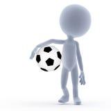 Football, soccer. 3d little people vector illustration