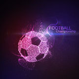 Football or Soccer abstract ball Royalty Free Stock Photos