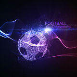 Football or Soccer abstract ball Royalty Free Stock Photography