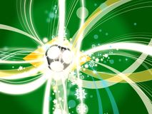 Football soccer background concept brazil Royalty Free Stock Image