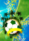 Football or soccer background Stock Photo