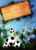 Football or soccer background Royalty Free Stock Photos