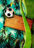 Football or soccer background Stock Photography