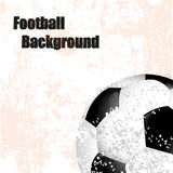 Football ,soccer, background retro illustration with ball Stock Photo