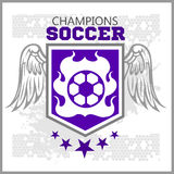 Football Soccer Badge, Patch and Emblem for sport Royalty Free Stock Photos