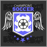 Football Soccer Badge, Patch and Emblem for sport Stock Photography