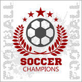 Football Soccer Badge, Patch and Emblem for sport Royalty Free Stock Image