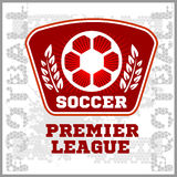 Football Soccer Badge, Patch and Emblem for sport Royalty Free Stock Photo