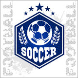 Football Soccer Badge, Patch and Emblem for sport Stock Photo