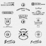 Football, Soccer badges logos and labels for any Royalty Free Stock Photography