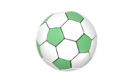 Football, Soccer ball. Green and white Football, Soccer ball Royalty Free Stock Photos