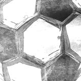Football soccer ball abstract background. Easy editable Stock Photography
