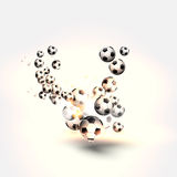 Football soccer ball background Stock Photography