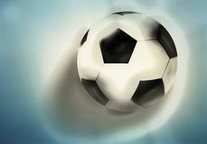 Football soccer ball 3d render background Stock Image