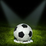 Football. Soccer ball on the field Stock Images
