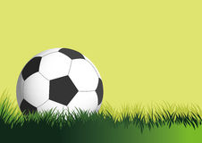 FOOTBALL OR SOCCER BALL. Soccer ball in the field background royalty free illustration
