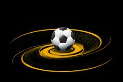 Football/soccer ball on fire illustration. Football/soccer ball on fire illustration on black background Stock Images