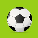 Football soccer ball flat icon vector Stock Photo