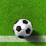 Football ( soccer  ball ) in grass field. Royalty Free Stock Image