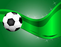 Football, soccer Ball  on Green Background with Space for Your Text Royalty Free Stock Images