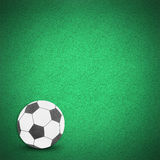 Football soccer ball green grass. Football soccer ball by cork board on green grass (clipping path Stock Image