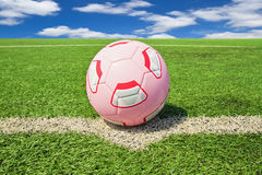 Football or soccer ball Royalty Free Stock Image