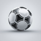 Football. Soccer ball on grey background Royalty Free Stock Image