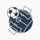 Football soccer ball icon Stock Image