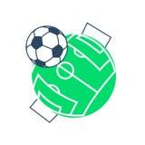 Football soccer ball icon Royalty Free Stock Image