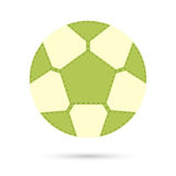 Football soccer ball icon. Royalty Free Stock Photo