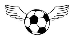 Football, soccer ball illustration royalty free illustration