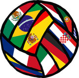 Football soccer ball made of flags. Vector Stock Photography
