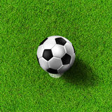 Football ( soccer ball ) on penalty point. Stock Photography