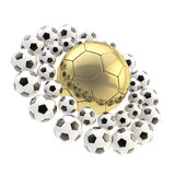 Football soccer ball planet background Royalty Free Stock Images