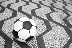 Football Soccer Ball Sao Paulo Brazil Sidewalk Stock Image