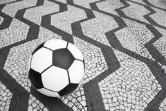 Football Soccer Ball Sao Paulo Brazil Sidewalk Stock Image