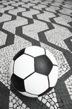 Football Soccer Ball Sao Paulo Brazil Sidewalk Stock Photo