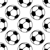 Football or soccer ball seamless pattern Royalty Free Stock Photography