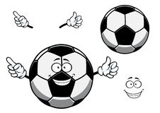 Football or soccer ball sporting mascot cartoon Stock Photo