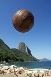 Football Soccer Ball Sugarloaf Mountain Rio de Janeiro Brazil Stock Image