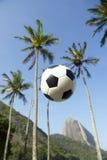 Football Soccer Ball Sugarloaf Mountain Rio de Janeiro Brazil Stock Images