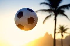Football Soccer Ball Sunset Rio de Janeiro Skyline Stock Photography