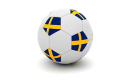 Football - Soccer ball with the swedish flag Royalty Free Stock Photography