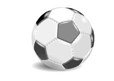 Football. soccer ball  on white Royalty Free Stock Photo