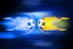 Football soccer balls. Royalty Free Stock Photography